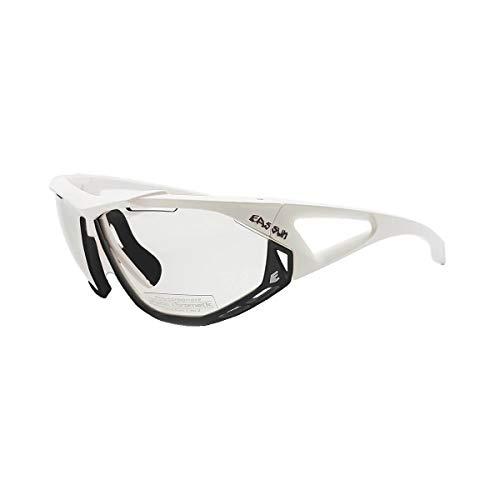 EASSUN Occhiali da Ciclismo Occhiali da Vista Epic Bianchi Lenti fotocromatiche Grigie