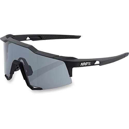 100% Speedcraft - Occhiali da Sole Unisex Adulto, Colore: Nero