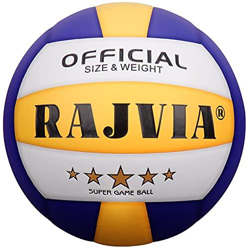 Pallone da Pallavolo, Palla da Pallavolo, Pallone Beach Volley Soft Touch Volleyball per Bambini/Giovani/Adulti, Taglia 5 (Blu/ Giallo)