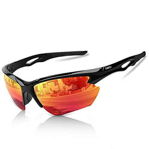 BONDDI Occhiali da Sole Sportivi Polarizzati, Occhiali Ciclismo da Uomo Donna per Ciclismo, Guida, Golf, Sci, Pesca e Corsa con Protezione UV400 e Telaio Infrangibile TR90