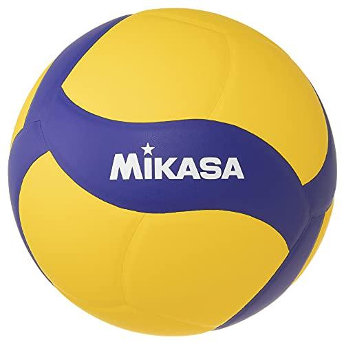 MIKASA Pallone Volley Allenamento V330W, Unisex Adulto, Blu/Giallo, 5