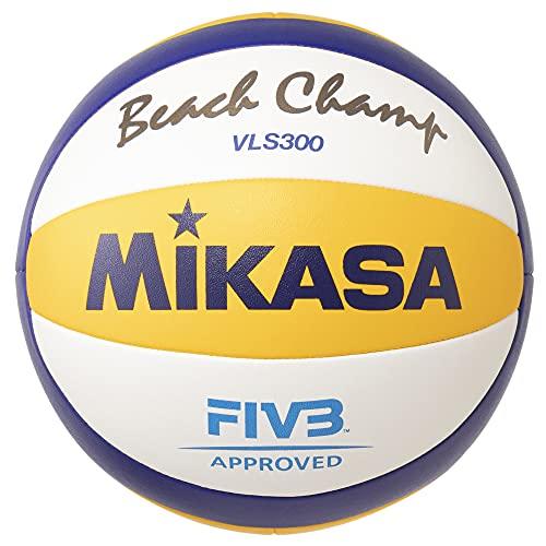 MIKASA Vls-300, Pallone da Pallavolo Unisex-Adulto, Bianco/Giallo/Blu, 5