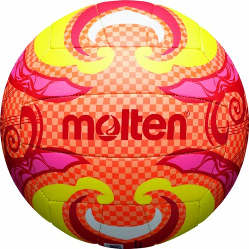 Molten, Palla da Beach Volley, Multicolore (Orange/Gelb/Pink), Misura 5